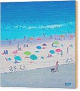 Beach Painting - Happy Days Wood Print