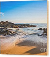 Beach Paradise - Beautiful And Secluded Secret Beach In Maui. Wood Print