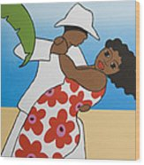Beach Party Wood Print
