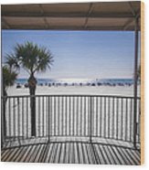 Beach Patio Wood Print