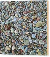 Beach Pebbles Wood Print