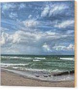 Beach Prerow Wood Print