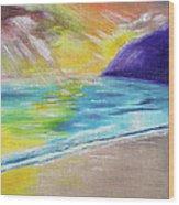 Beach Reflection Wood Print