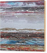Beach Rhythms And Textures IIi Wood Print by Mike   Bell
