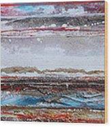 Beach Rhythms And Textures IIi Wood Print