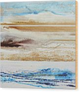 Beach Rhythms And Textures No1a Wood Print