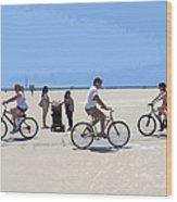 Beach Riders Wood Print