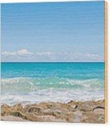 Beach Rocks 0001 Wood Print