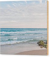 Beach Rocks 0003 Wood Print