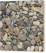 Beach Rocks Wood Print