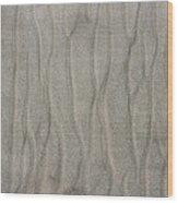 Beach Sand Pattern Wood Print