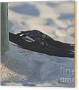 Beach Sandals 1 Wood Print