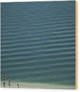 Beach Scene - Four People On Beach Wood Print