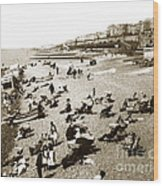 Beach Sean France  Circa 1900 Wood Print