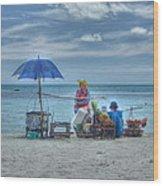 Beach Sellers Wood Print