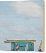 Beach Shack Wood Print