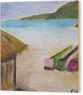 Beach Shack Wood Print