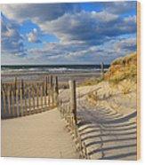 Beach Shadows  Wood Print