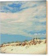 Beach Sky Wood Print