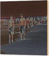 Beach Solar Series Vii Usa Wood Print