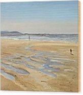 Beach Strollers  Wood Print