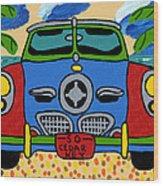 Beach Studebaker Wood Print