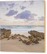 Beach Sunrise At Jupiter Island Florida Wood Print