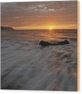 Beach Sunrise Wood Print