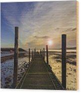 Beach Sunrise V2 Wood Print by Ian Mitchell