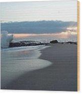 Beach Surf Wood Print