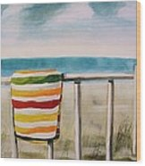 Beach Towel Wood Print