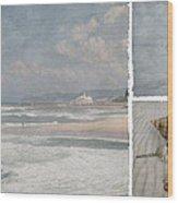 Beach Triptych 1 Wood Print