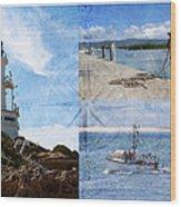 Beach Triptych 2 Wood Print