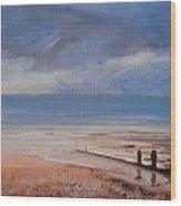 Beach View 2 Wood Print