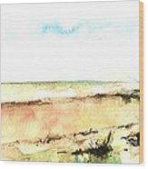 Beach View Wood Print