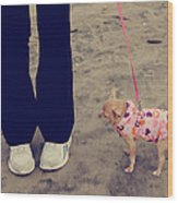 Beach Walk Wood Print