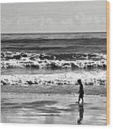 Beach Walker 30 Wood Print