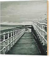 Beach Walkway Wood Print by Tom Gowanlock