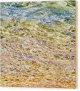 Beach Water Abstract Wood Print