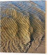 Beach Wave Pattern. Wood Print