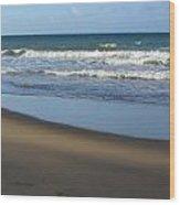Beach Waves 1 Wood Print