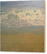 Beach Waves Wood Print