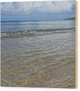 Beach Waves Tall Wood Print
