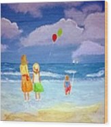 Beachbaloons Wood Print