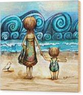 Beachcombers Wood Print by Karin Taylor
