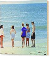 Beaches Of Point Pleasant Nj Wood Print