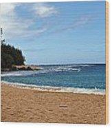 Beachfront Wood Print