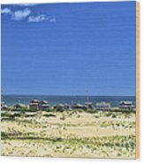 Beachouses As Seen From Jockey's Ridge State Park Wood Print