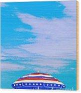 Beachtime Usa Wood Print