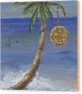 Beachy Christmas Wood Print